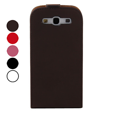 PU Leather Flip Case Cover for Samsung Galaxy S3 I9300 (Multi-Color)
