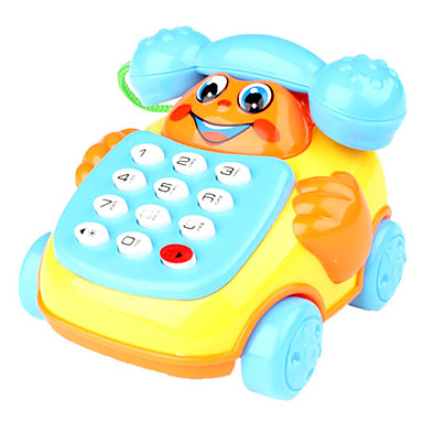 Educational Toy Telephone with Wheels Toys for Kids (Red)