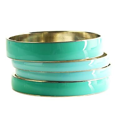 Lureme®Green Broad-Brimmed Bracelet(4 Pcs)