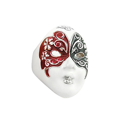 Mysterious Mask Butterfly Pattern Ring