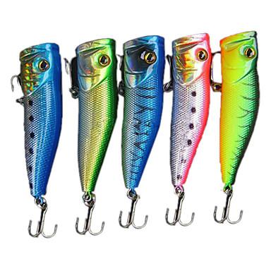 1 pcs adet Sert Balık Yemi / Popper Sert Plastik Deniz Balıkçılığı / Tatlı Su Balıkçılığı