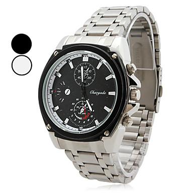 liga dos homens relógio de pulso analógico de quartzo (prata)