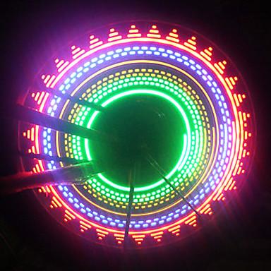 baratos Luzes de Bicicleta-LED Luzes de Bicicleta Luzes de Bicicleta Luzes de Tampa de Válvula luzes da roda Ciclismo AAA Bateria Ciclismo / IPX-4