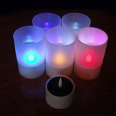 güneş enerjili şarj edilebilir tek renk alevsiz mum lamba