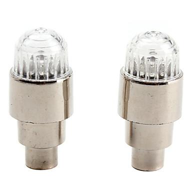 Vibration Sensor 1-LED multicolores décoratifs vélo / voiture roue Lumières de valve de pneu Cap (2-Pack, 3xAG10)