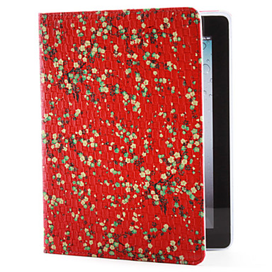 Flower Pattern PU Leather Case with Stand for iPad 2/3/4 (Assorted Colors)