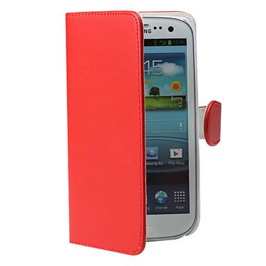 מקרה גוף מלא תבואה קיסם עם חריץ לכרטיס i9300 Samsung Galaxy S3 (צבע שונים)