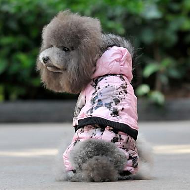 Brindle Capa con capucha caliente con patrón Pantalones para Perros (Rosa, S-XL)