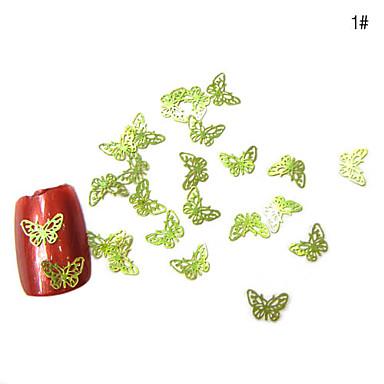 50 piezas de metal uñas Decoración