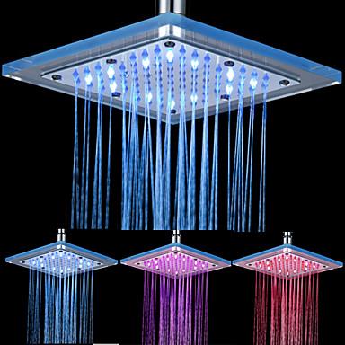 8-Zoll-12-LED-Platz Acryl Decke Duschkopf (verschiedene Farben)