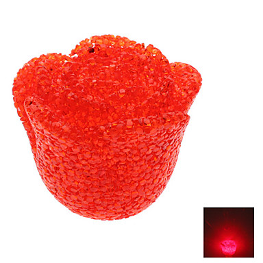 Novelty Rose Style Red Light Crystal LED Night Lamp (3xLR44)