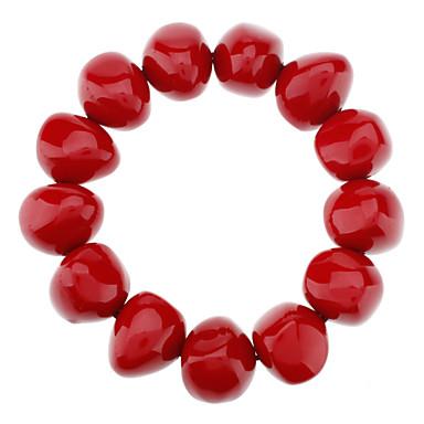 Red Jujube Large Amorphous Amber Bracelet