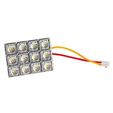 BA9S/Festoon/T10 4W 12-led 320-350lm wit licht LED lamp voor auto deur / leeslamp (12V)