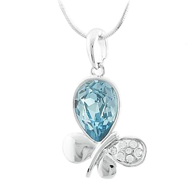 Bow Shape Austrian Crystal Necklace