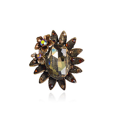 Crystal Girasol aleación del anillo