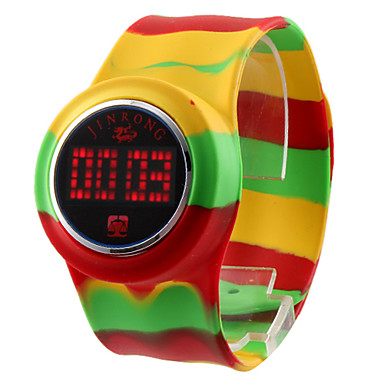 Unisex Farverig Touch Screen Plastic Digital LED Wrist Fashion Watch (Assorterede farver)