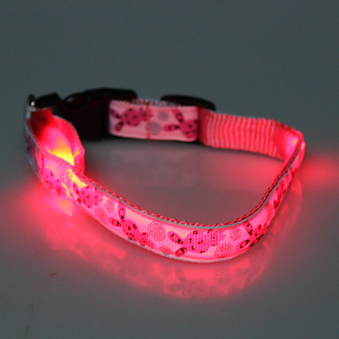 Adjustable Lovely Rabbit Pattern Night Safety LED Flash Collar for Dogs (Assorted Color,Neck:22-30cm/8.6-11.8inch)