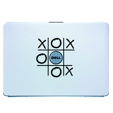 macbook air pro / dell / hp / compaq / acer / lenovo / sony (siyah) için oyun dizüstü deri kapak çıkartma etiket
