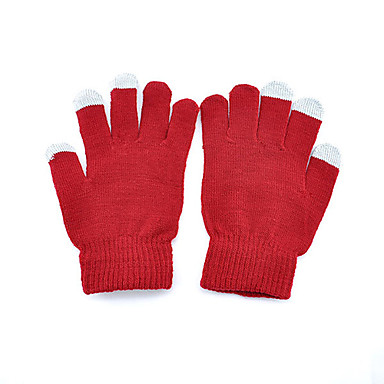 Red Unisex Touch Screen Strik Handsker