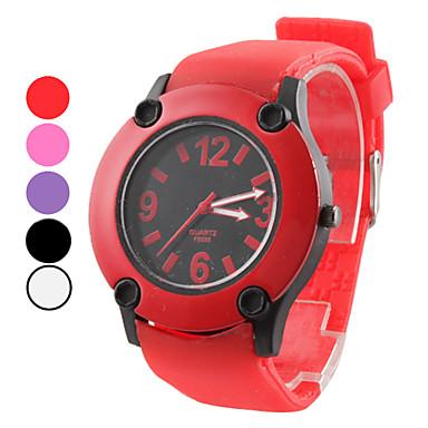 Unisex Enkel design Gummi Analog Quartz Wrist Mode Watch (blandade färger)