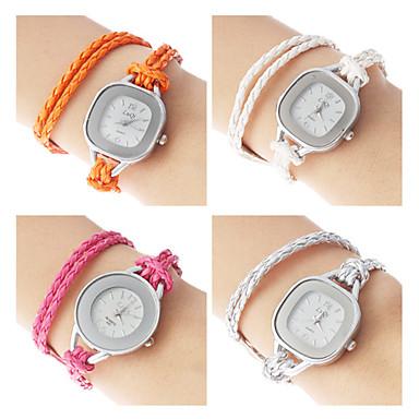 Kvinde Mode PU Analog Quartz Armbåndsur (blandede farver)