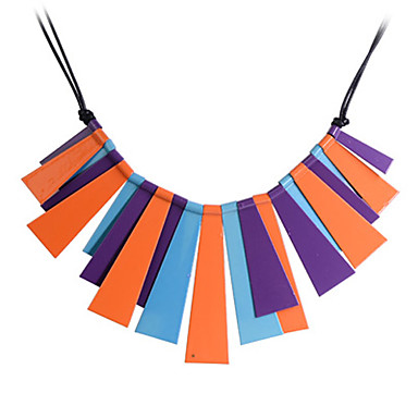 Lureme®Imitation Rhodium Colorful Alloy Necklace
