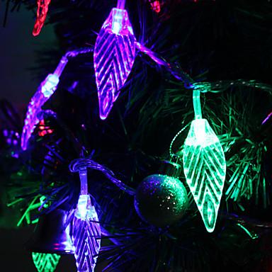 7m 30 liderliğindeki yaprak biçimli renkli ışık festivali dekorasyon (220v) için şerit peri lamba led