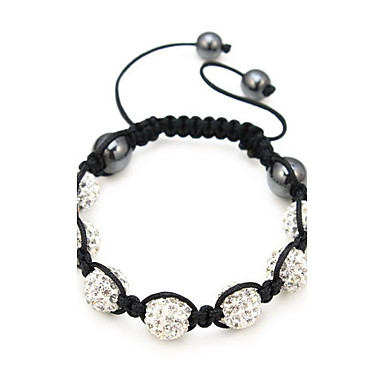 Black Rope Style Zircon Bracelet(Assorted Color)