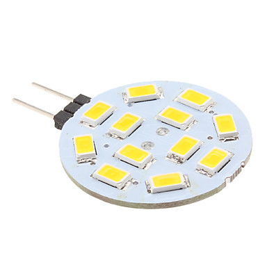 2 W 240 lm G4 LED Bi-pin Lights 12 LED Beads SMD 5630 Warm White 12 V / # / CE