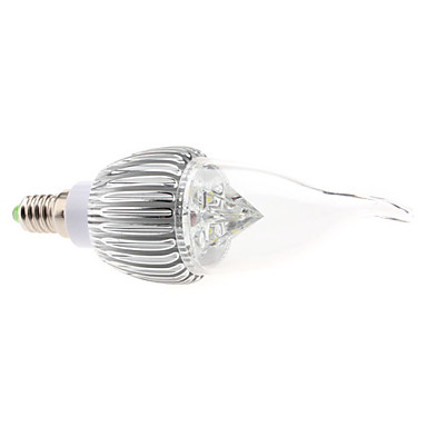 6000 lm E14 LED Candle Lights CA35 4 leds High Power LED Dimmable Natural White AC 85-265V