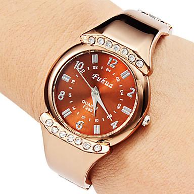 Kvinder Casual Style Alloy Analog Quartz Bracelet Watch (Bronze)