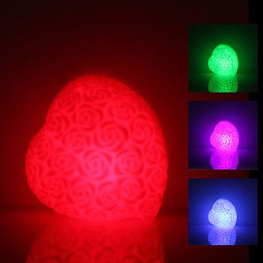 Rose a forma di cuore colorato Notte Luce LED (3xLR44)
