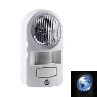 sensor de movimiento por infrarrojos detectan la luz LED blanco de seguridad de la lámpara (4xAA)
