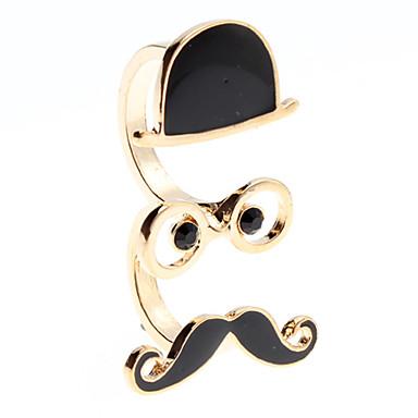 z&x® schwarze Kappe Brille Spitzbart-Formring