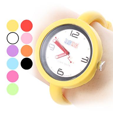 Unisexe Quartz analogique en silicone Jelly montre-bracelet de style (couleurs assorties)