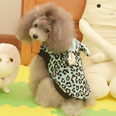 Leopard Printing Cute Ear Style Hoodie for Dogs (XS-XL)