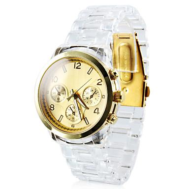 Men's Plastic Analog Quartz Wrist Watch (White)