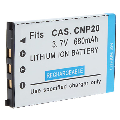 Digital Video Battery Replace Casio NP-20 for CASIO EX-S1 and More (3.7v, 680 mAh)