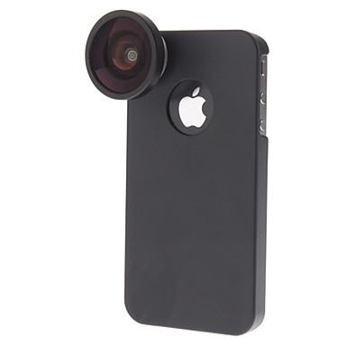 Ayrılabilir 0.4x geniş açı lens iphone 4/4s için geri durumda seti