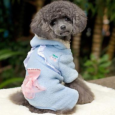 Cerise Modèle Cape Coral Fleece Hoodie de style avec un pantalon pour chiens (couleurs assorties, XS-XL)