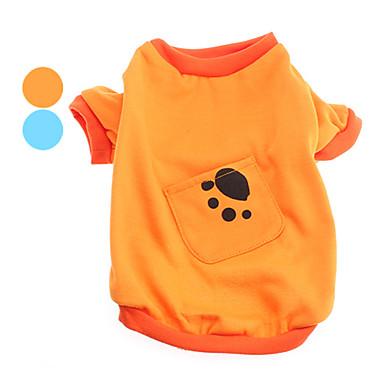 Собака Футболка Одежда для собак Животное Оранжевый Синий Костюм Для домашних животных