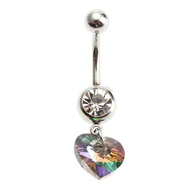 Dámské Tělové ozdoby Navel & Bell Button Rings Jedinečný design láska Módní Nerez Slitina Ostatní Srdce Šperky Pro Denní Ležérní