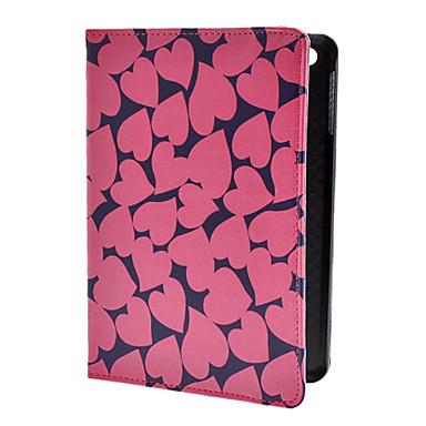 Heart-Shaped Pattern PU Leather Case mit Ständer für iPad Mini