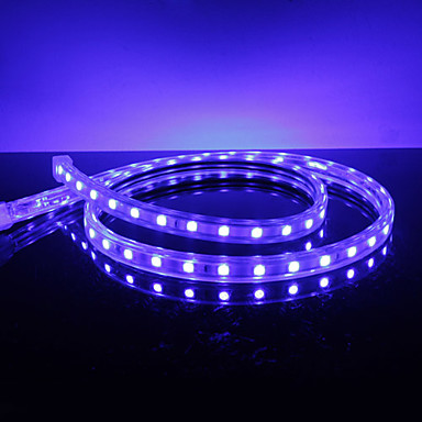 Étanche 10W / M 5050 SMD LED Strip Light Blue Lamp (220V, sélectionnable Longueur)
