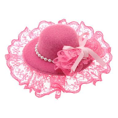 viola clip di capelli del cappello di pizzo perle per gli animali domestici