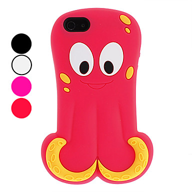 3D Design Cute Octopus Pattern Soft Case for iPhone 5/5S (Assorted Colors)