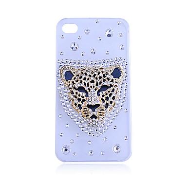 Zircon Leopard Pattern Hard Case for iPhone 4/4S