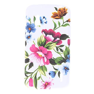 Caso flor padrão macio para LG E960 Nexus 4