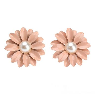 Pentru femei Cercei Stud Floare femei Clasic Perle cercei Bijuterii Roz Pentru Petrecere