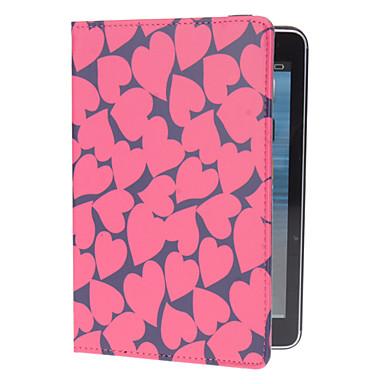 Sydän-muoto kuvio PU Leather Case teline iPad mini